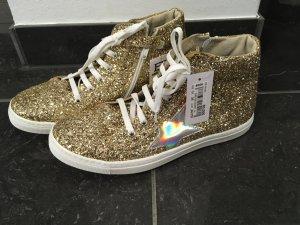 Schuhe Sneaker Gold Vera Pelle Gr. 39 neu!!