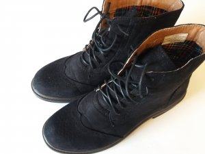 Lace-up Booties black imitation leather