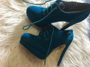 Lace-up Booties cadet blue