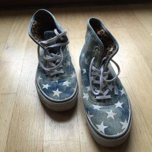 Schuhe VANS - Authentic Hi (Washed Denim)