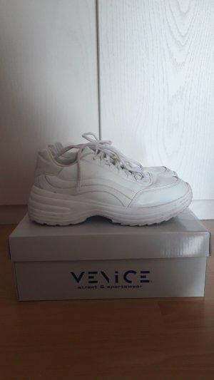 -8- Venice Sneakers met veters wit