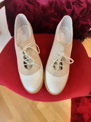 Aces of London Escarpins à lacets blanc cassé-beige