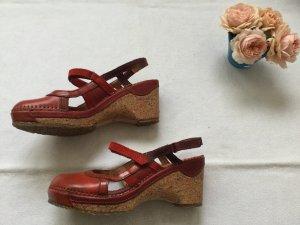 Art Strapped Sandals dark red