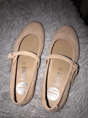 size 40 5d4b9 406ce Bama Strappy Ballerinas rose-gold-coloured