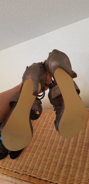Bullboxer High-Heeled Sandals taupe