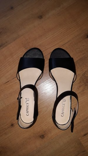 Caprice Strapped Sandals black leather