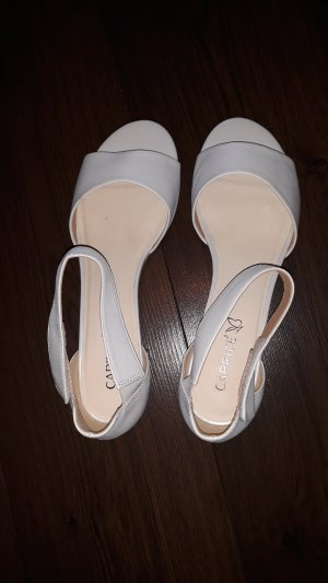 Caprice Strappy Ballerinas white leather