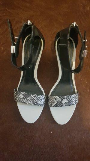 Charles & Keith Platform High-Heeled Sandal black-grey