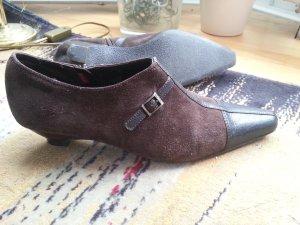 Schuhe von Esprit, Pumps/ Stiefeletten, braun, Leder, Größe 40