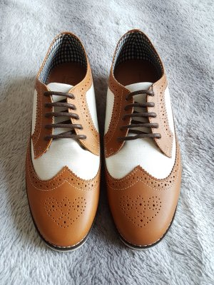 Fred Perry Business Shoes white-brown