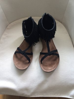 100 Sandalias negro Cuero