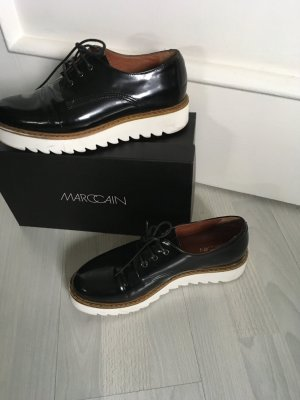 Marc Cain Business Shoes white-black leather