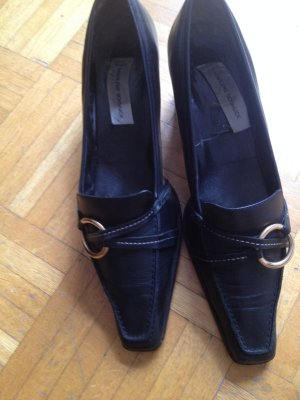 Loafer nero Pelle