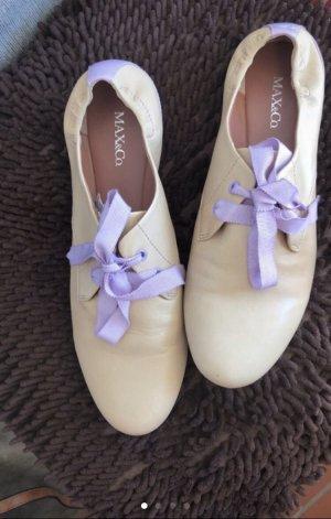 Max & Co. Lace Shoes cream-purple