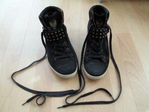 Schuhe von Paul Green in Gr. 38,5 schwarz mit Keilabsatz Wedge