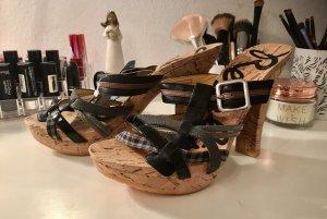 Schuhe von Replay mit Korkabsatz