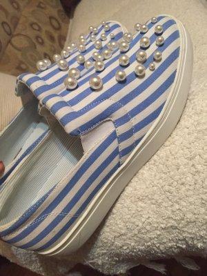 Zara Flats blanco-azul claro
