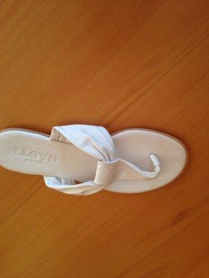 Schuhe, Zehentrenner, neu, von Lloyd, Leder, in Weiß
