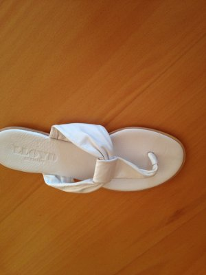 Lloyd Sandalo toe-post bianco Pelle
