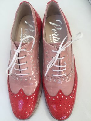 Pertini Zapatos Budapest rosa empolvado-rojo Cuero