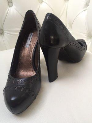 Tosca blu Chaussure à talons carrés noir cuir