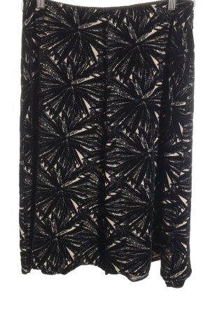 Schuhmacher Asymmetrie-Rock hellbraun-schwarz Farbverlauf Casual-Look