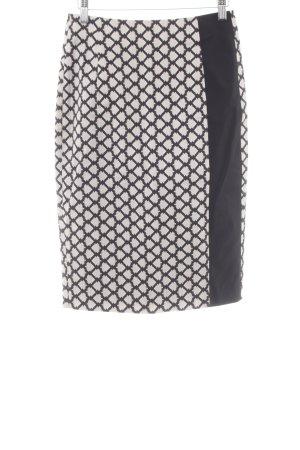 Schuhmacher Bleistiftrock schwarz-creme abstraktes Muster Business-Look