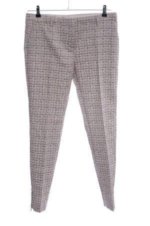 Schuhmacher Pantalone a pieghe grigio chiaro-marrone motivo grafico