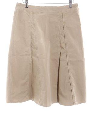 Schuhmacher Jupe à plis beige style décontracté