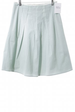 Schuhmacher Jupe à plis gris vert élégant