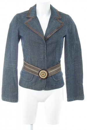 Schuhmacher Denim Blazer dark blue-black extravagant style