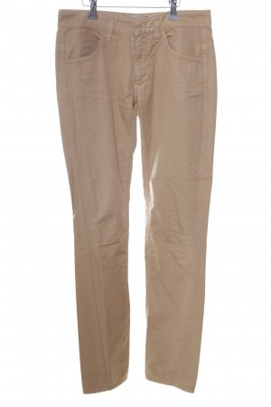 Schuhmacher Pantalón de color caqui nude look casual