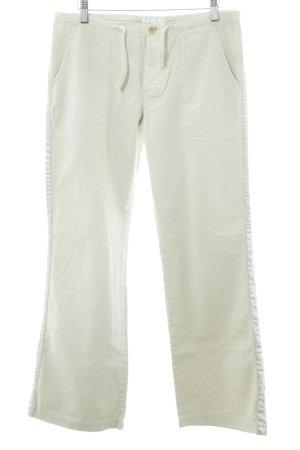 Schuhmacher Pantalón de color caqui blanco puro look casual