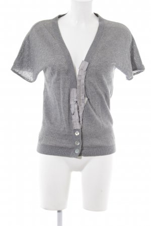 Schuhmacher Short Sleeve Knitted Jacket grey casual look