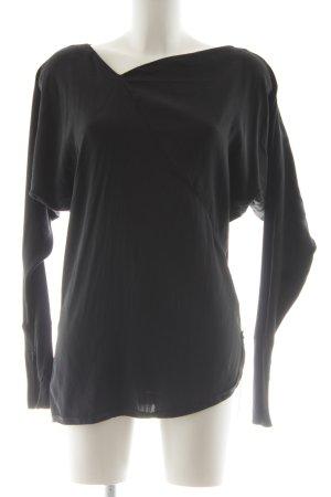 Schuhmacher Langarm-Bluse schwarz schlichter Stil