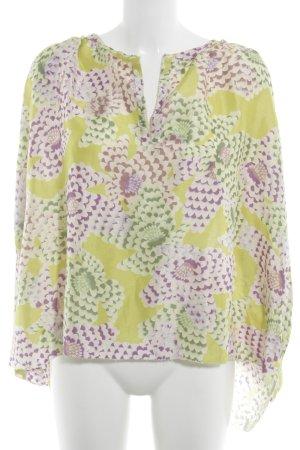 Schuhmacher Langarm-Bluse florales Muster Romantik-Look