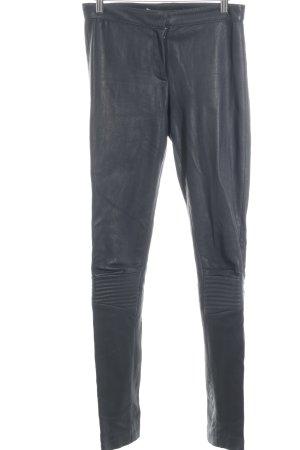 Schuhmacher Lederhose dunkelgrau klassischer Stil