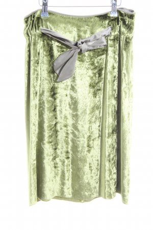 Schuhmacher Midirock grün-hellgrau Elegant