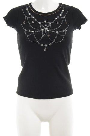 Schuhmacher Camisa acanalada negro look casual