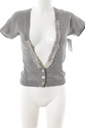Schuhmacher Knitted Bolero light grey loosely knitted pattern casual look