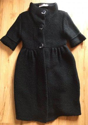 Schuhmacher Veste tricotée en grosses mailles noir-bleu foncé laine