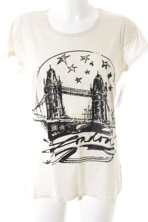 Schuhmacher T-Shirt hellgelb-schwarz Schriftzug gedruckt minimalistischer Stil