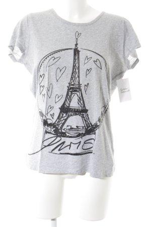 Schuhmacher T-Shirt hellgrau-schwarz Schriftzug gedruckt minimalistischer Stil