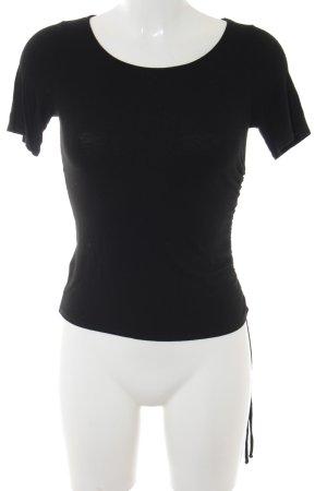 Schuhmacher T-Shirt schwarz Casual-Look