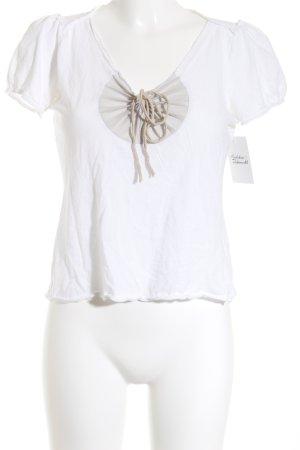 Schuhmacher T-Shirt weiß Casual-Look