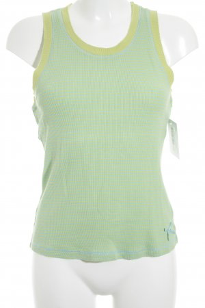 Schuhmacher Tank Top primrose-turquoise striped pattern athletic style