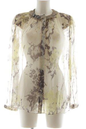 Schuhmacher Transparenz-Bluse Blumenmuster Casual-Look
