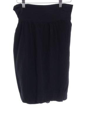 Schuhmacher Jupe portefeuille noir style décontracté
