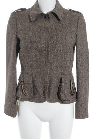 Schuhmacher Veste en laine marron clair motif à chevrons élégant