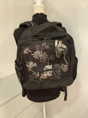 School Backpack black-white